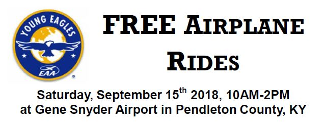 Free Airplane Rides Sep 15h